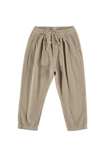 Trousers kids corduroy beige