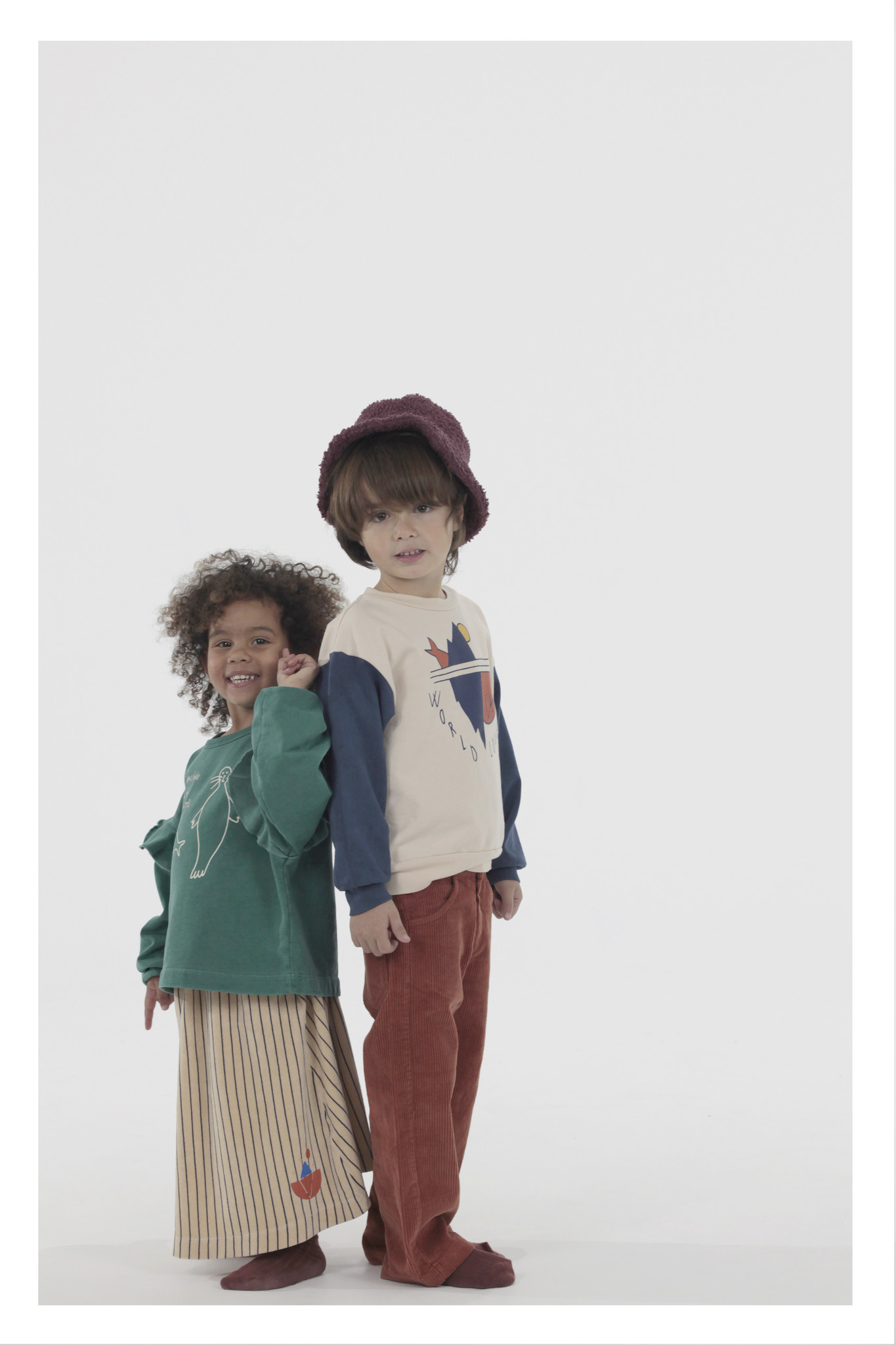 Sweatshirt world lovers navy kids-2