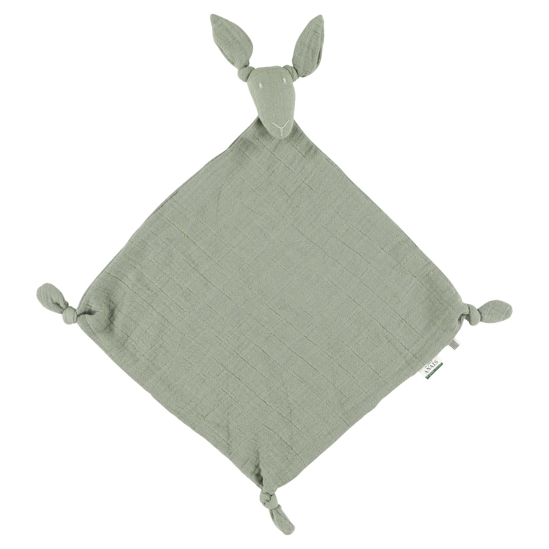 Kangoeroe muslin knuffeldoekje bliss olive-1