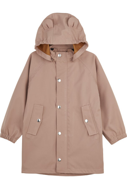Blake long raincoat dark rose