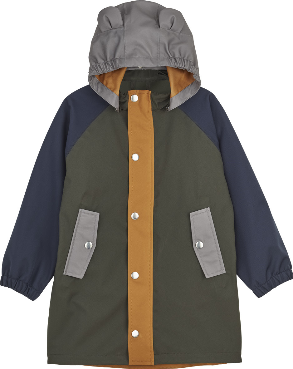 Blake long raincoat hunter green multi mix kids-1