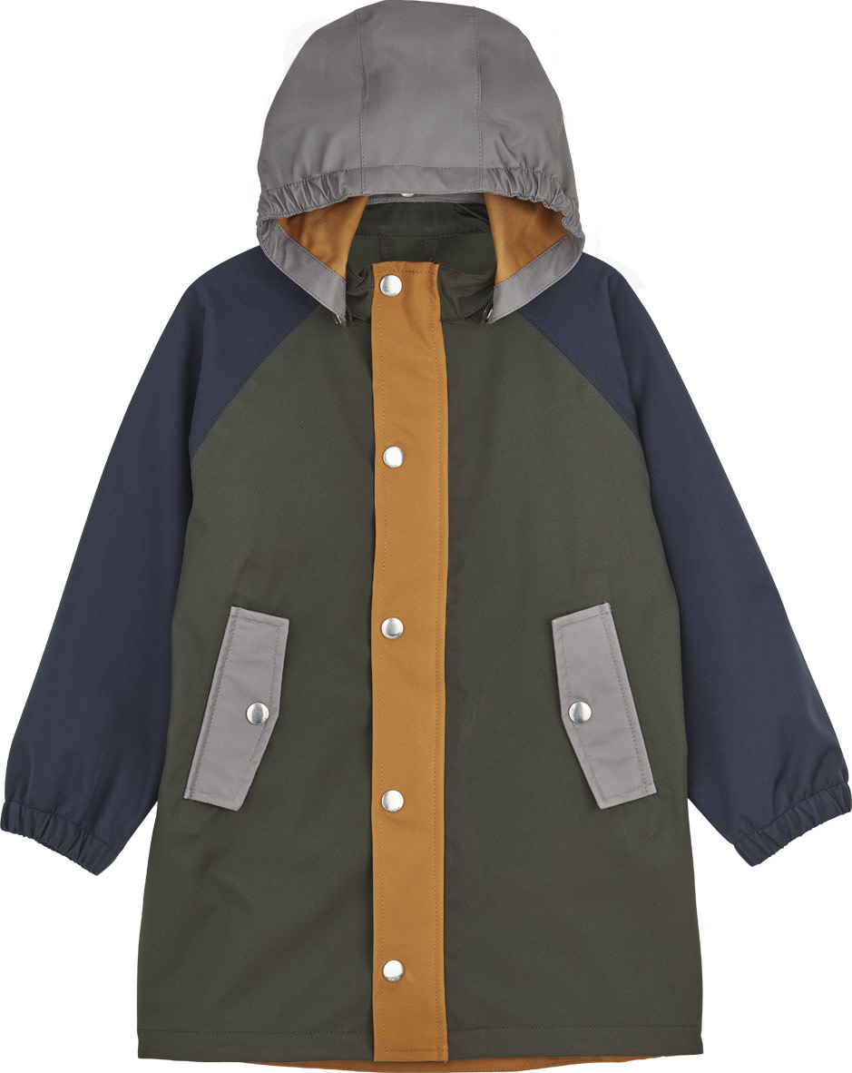 Spencer long raincoat hunter green multi mix-1
