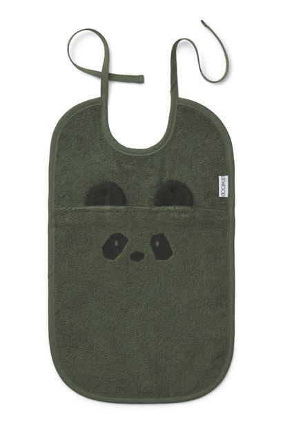 Theo terry bib panda hunter green