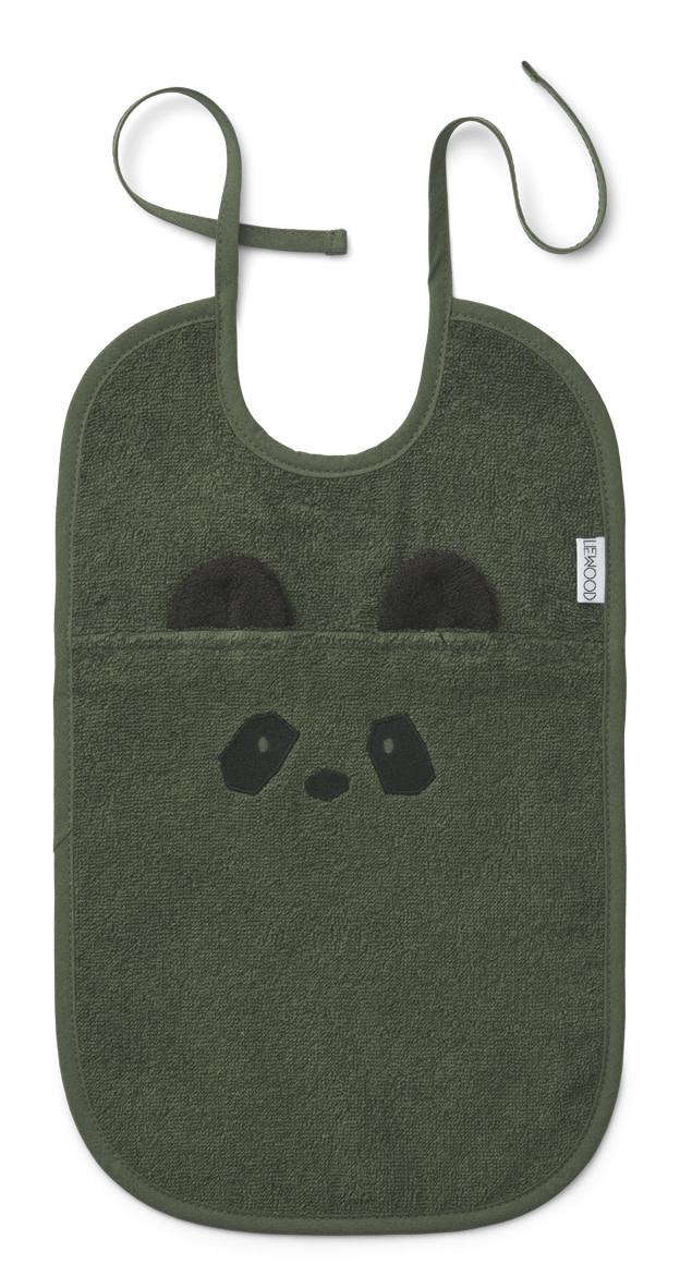 Theo terry bib panda hunter green-1