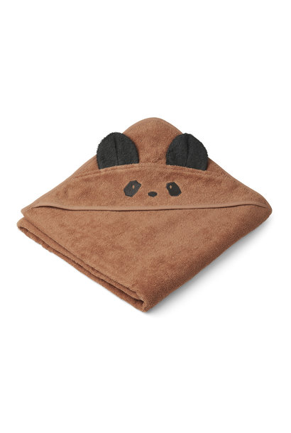 Augusta hooded towel panda tuscany rose
