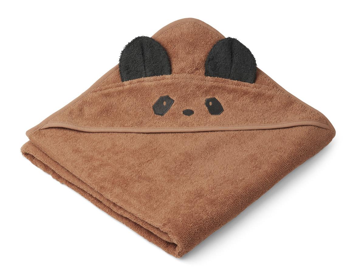 Augusta hooded towel panda tuscany rose-1