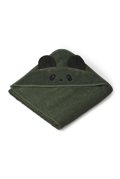 Augusta hooded towel panda hunter green