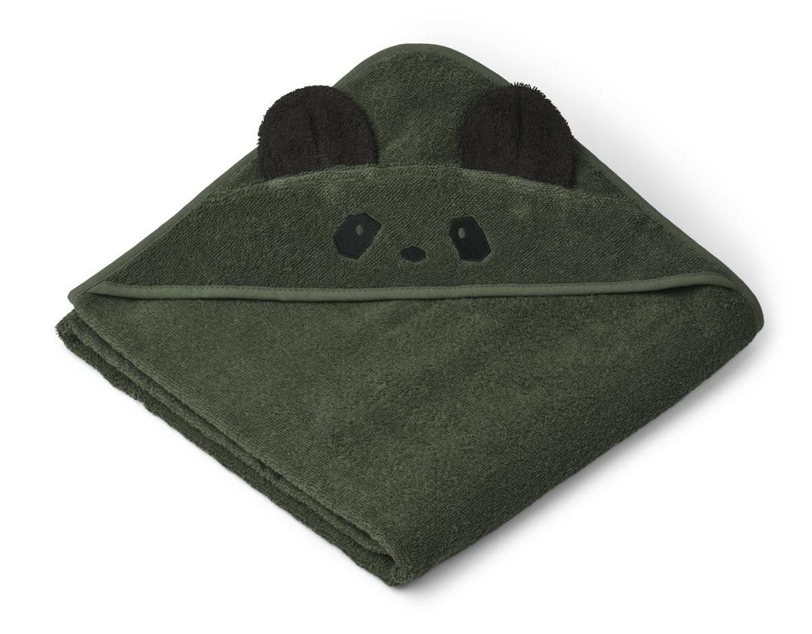 Augusta hooded towel panda hunter green-1
