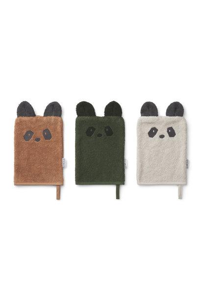 Sylvester washcloth panda mix - 3 pack