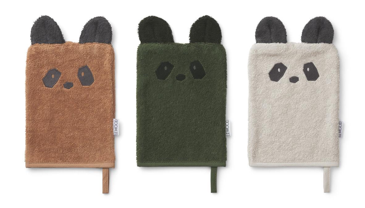 Sylvester washcloth panda mix - 3 pack-1