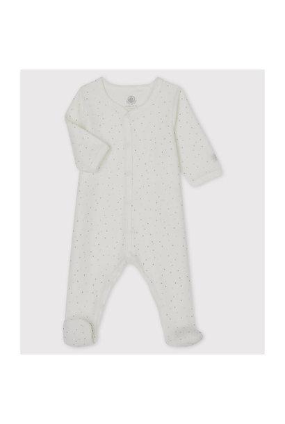 Dors bien fleece pyjama met voetjes stars