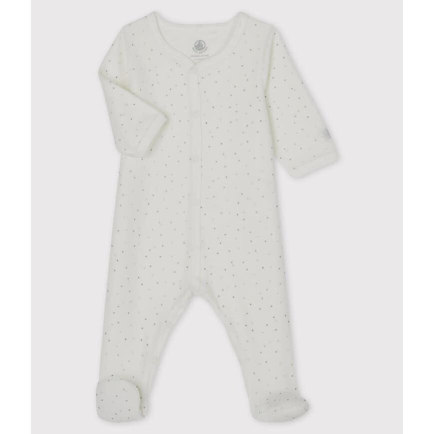 Dors bien fleece pyjama met voetjes stars-1