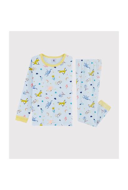 Pyjama blauw met masker