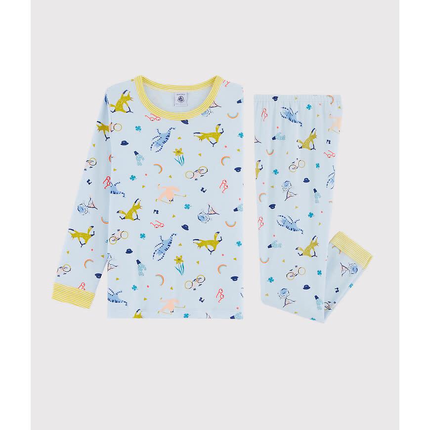 Pyjama blauw met masker-1
