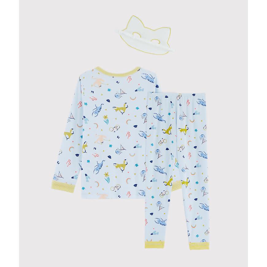 Pyjama blauw met masker-2