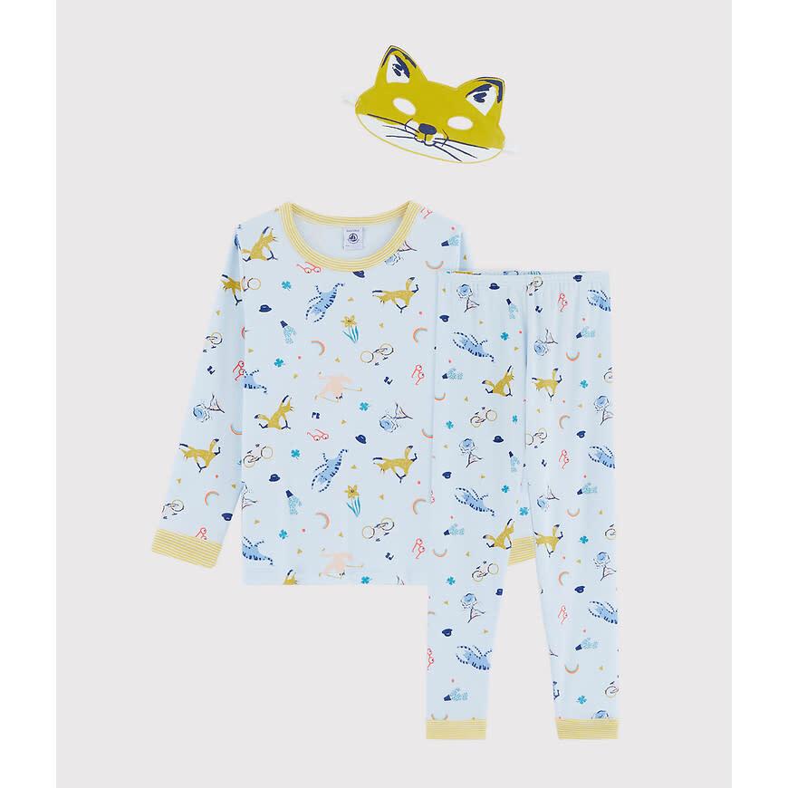 Pyjama blauw met masker-3