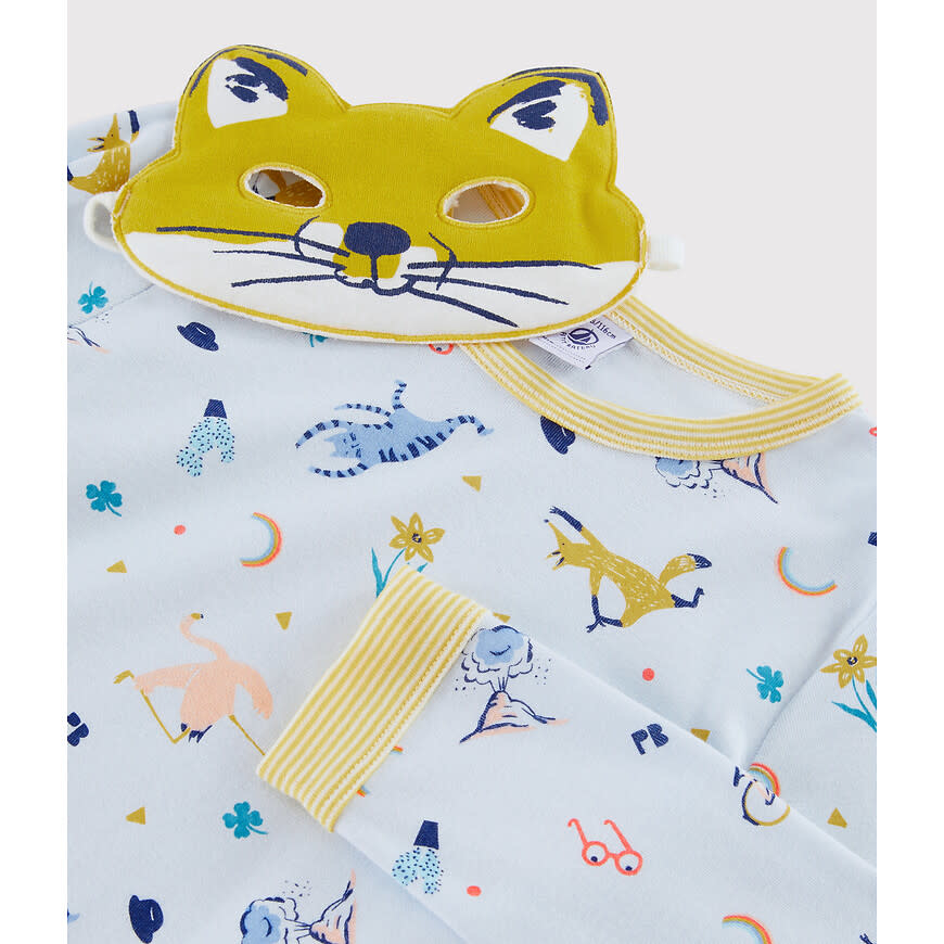 Pyjama blauw met masker-4