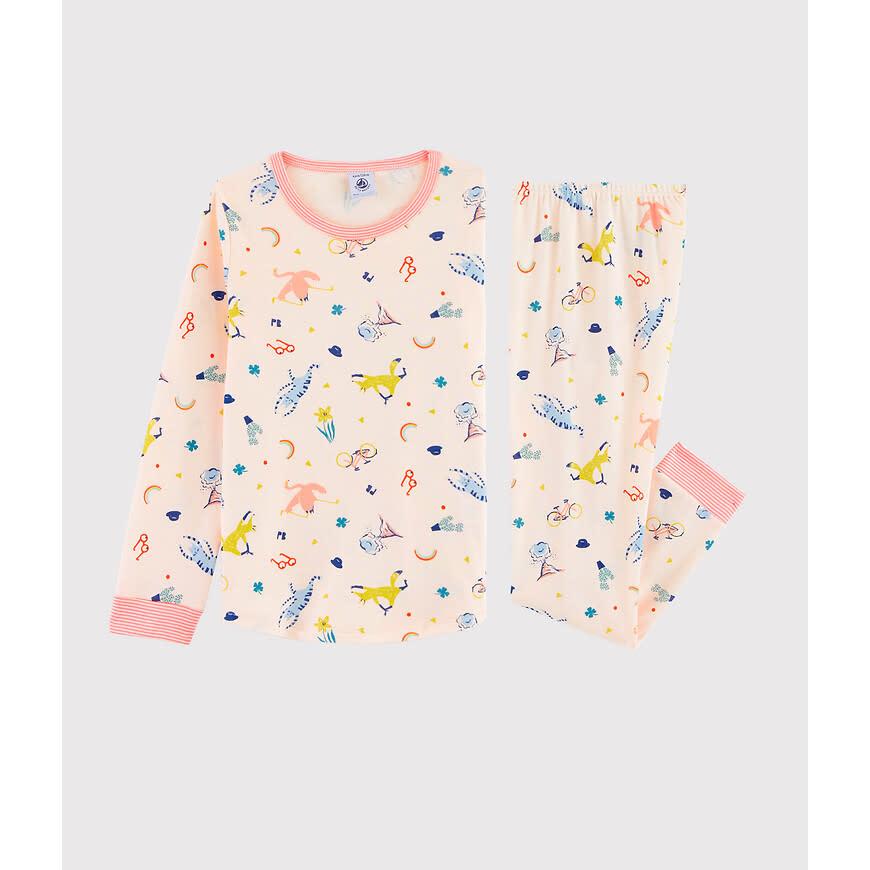 Pyjama roze met masker-1