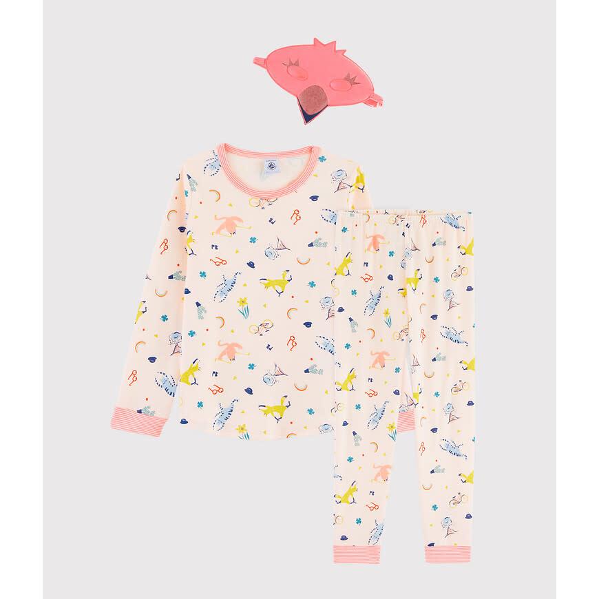 Pyjama roze met masker-3
