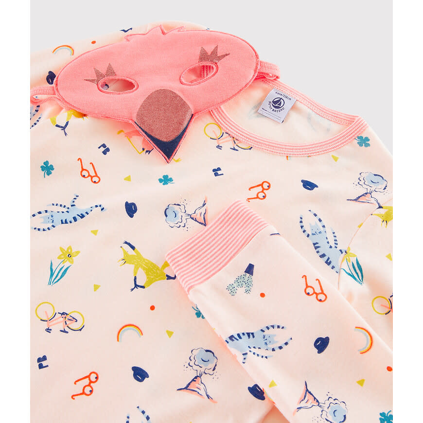 Pyjama roze met masker-4
