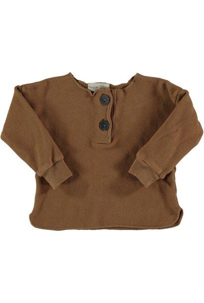 Acorn warm fleece sweater caramel