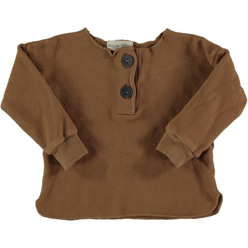 Acorn warm fleece sweater caramel-1