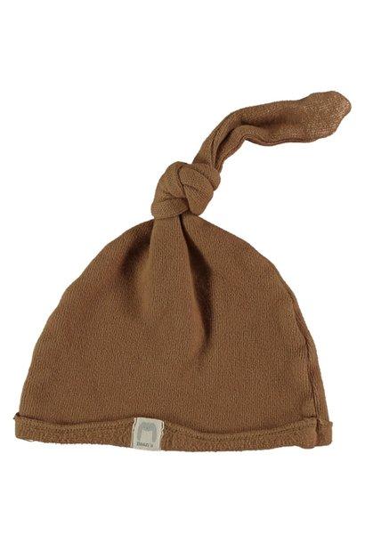 Cottage warm fleece newborn cap caramel