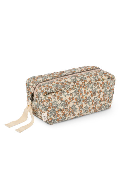 Quilted toiletry bag orangery beige