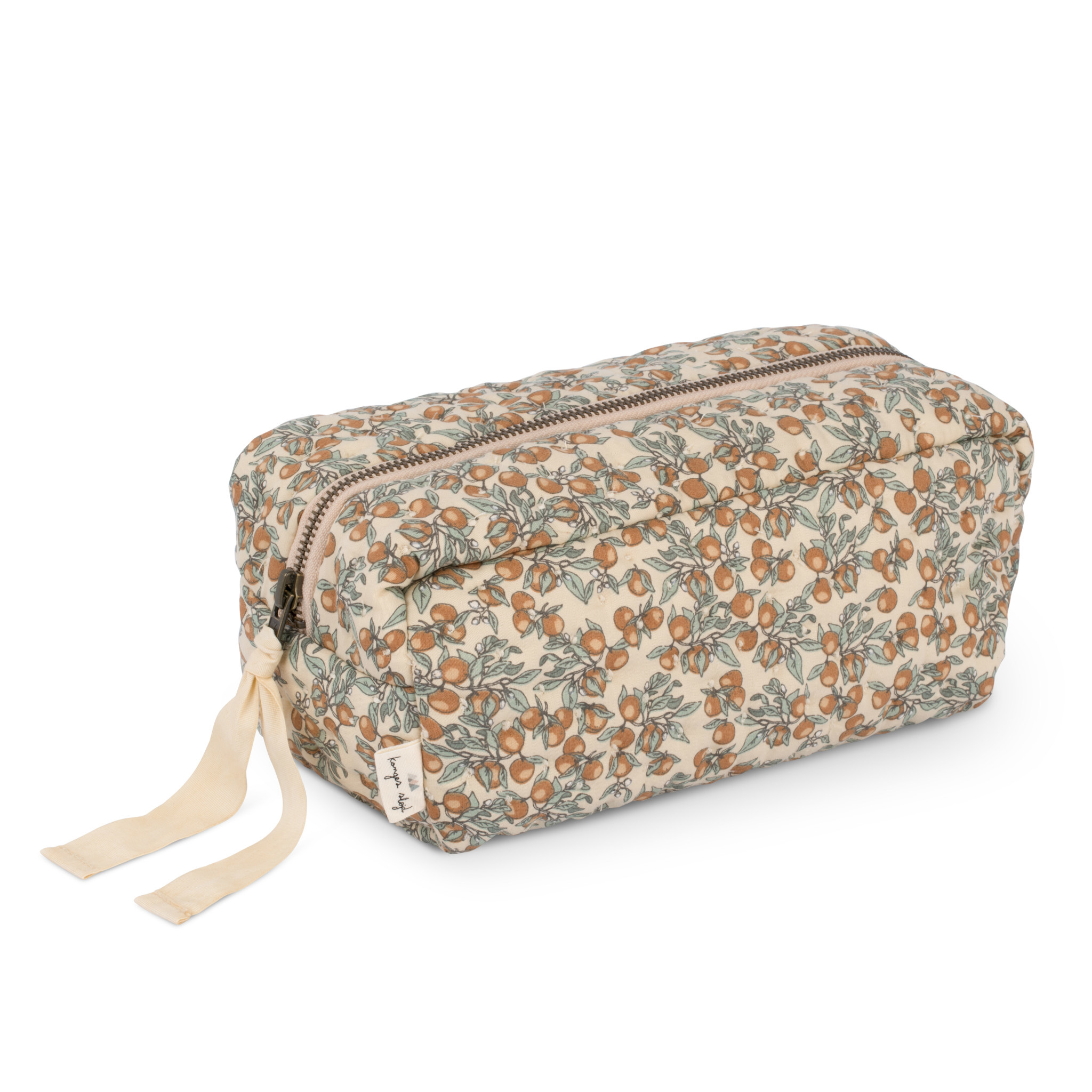 Quilted toiletry bag orangery beige-1