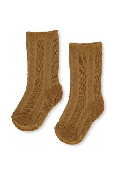 Fuma sock pointelle dark honey