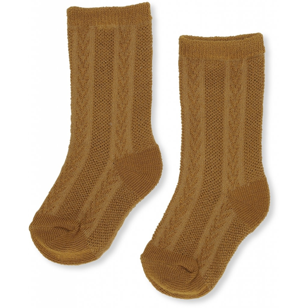 Fuma sock pointelle dark honey-1