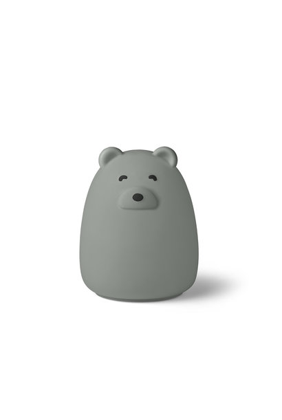 Winston night light bear dove blue