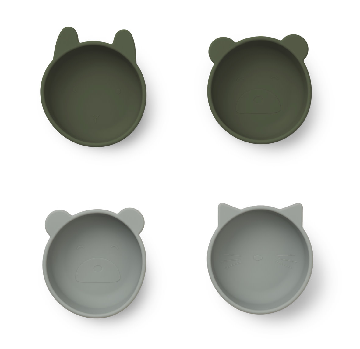 Iggy silicone bowls hunter green mix - 4 pack-1