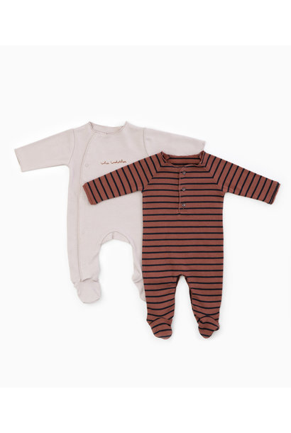 Onesie striped rib