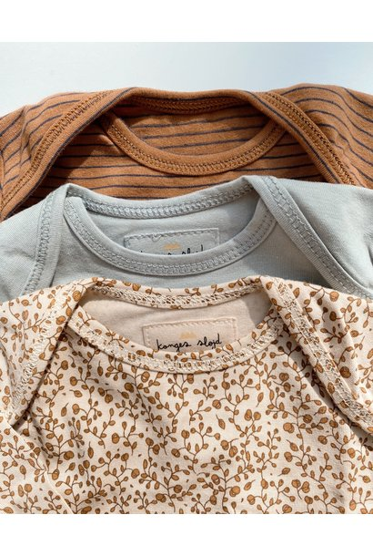Body blossom mist/striped/brown - 3 pack