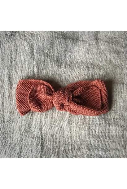 Knitted headband terracotta 0-12M