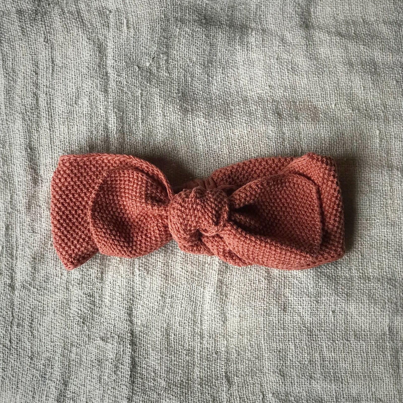 Knitted headband terracotta 0-12M-1