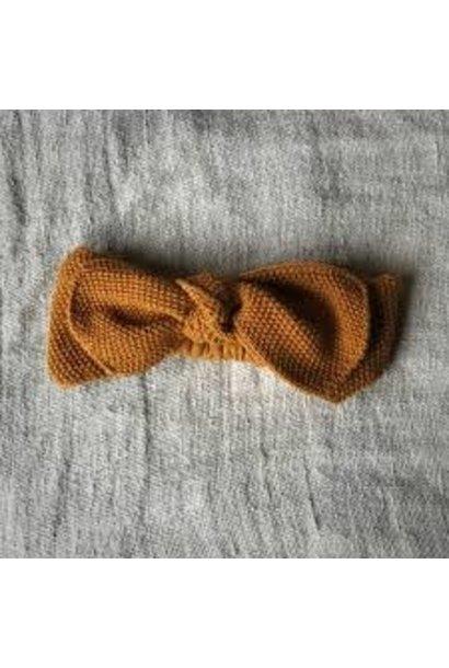 Knitted headband mustard 0-12M