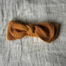 Knitted headband mustard 0-12M-1