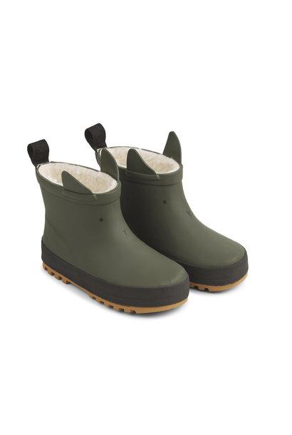 Jesse thermo rain boot hunter green/black