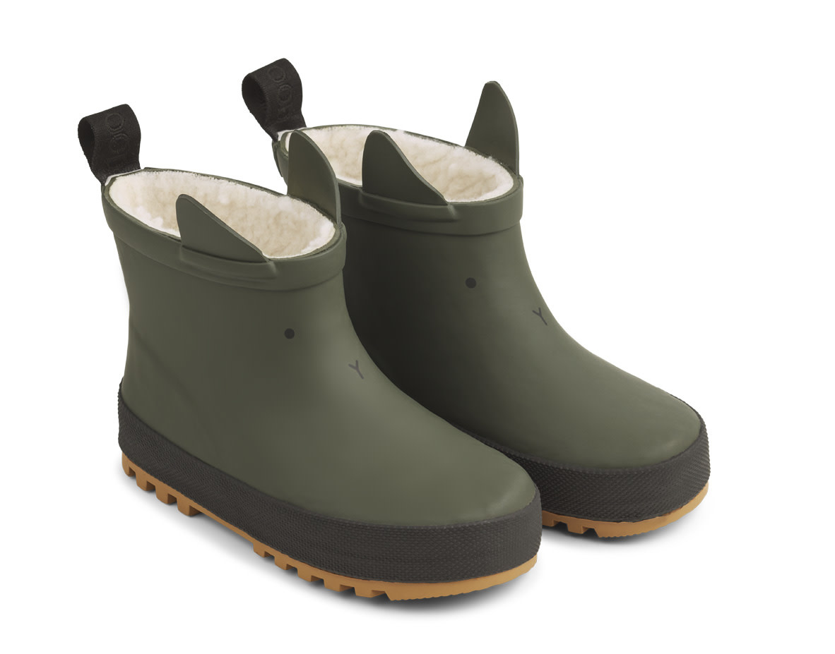 Jesse thermo rain boot hunter green/black-1
