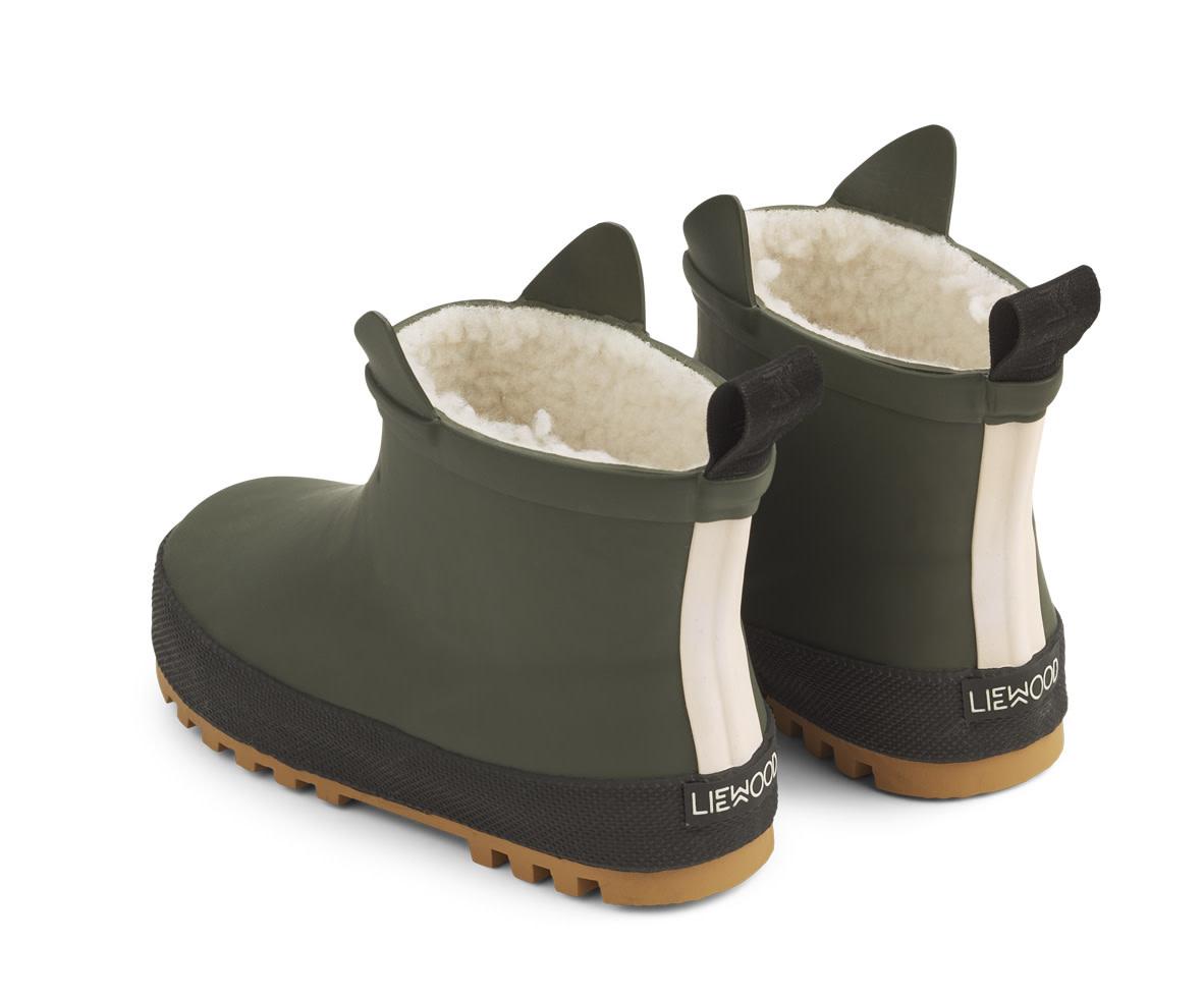 Jesse thermo rain boot hunter green/black-2