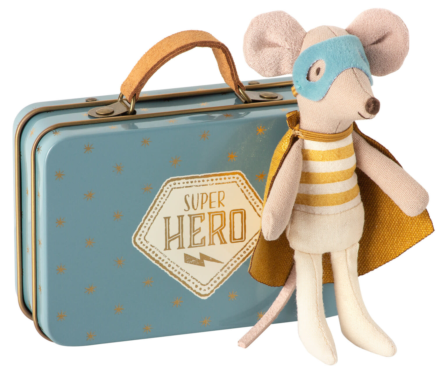 Superhero mouse, little brother in suitcase-1