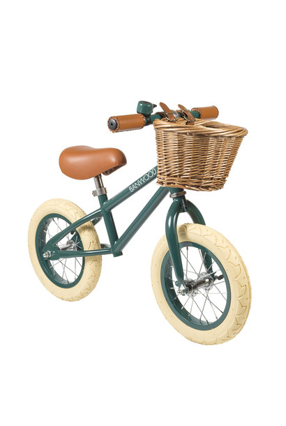 Balance bike first go dark green
