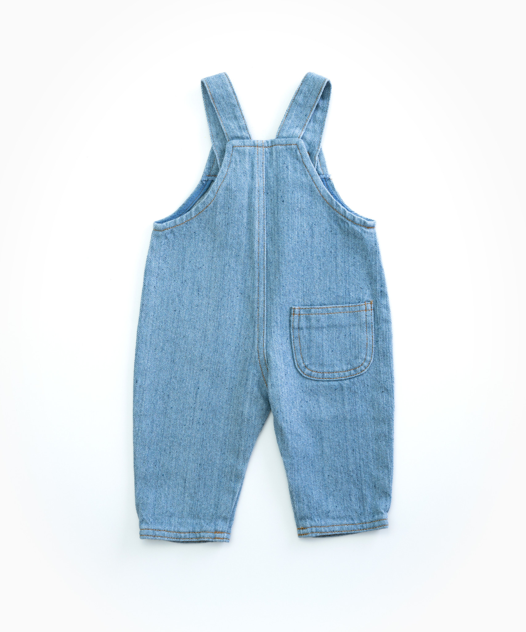 Recycle denim dungaree-2
