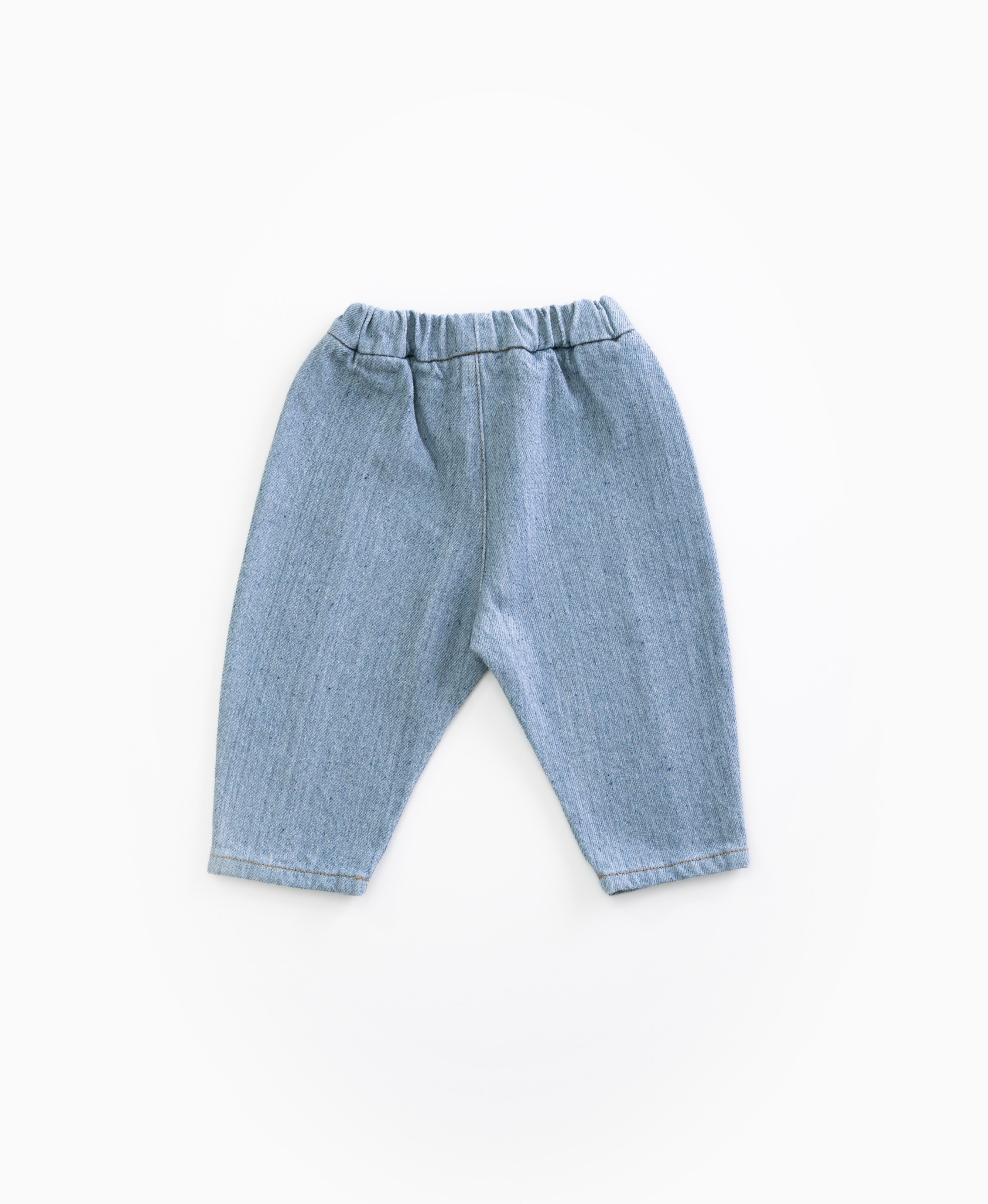 Recycled denim trousers-2