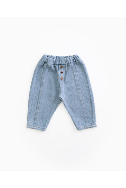 Recycled denim trousers