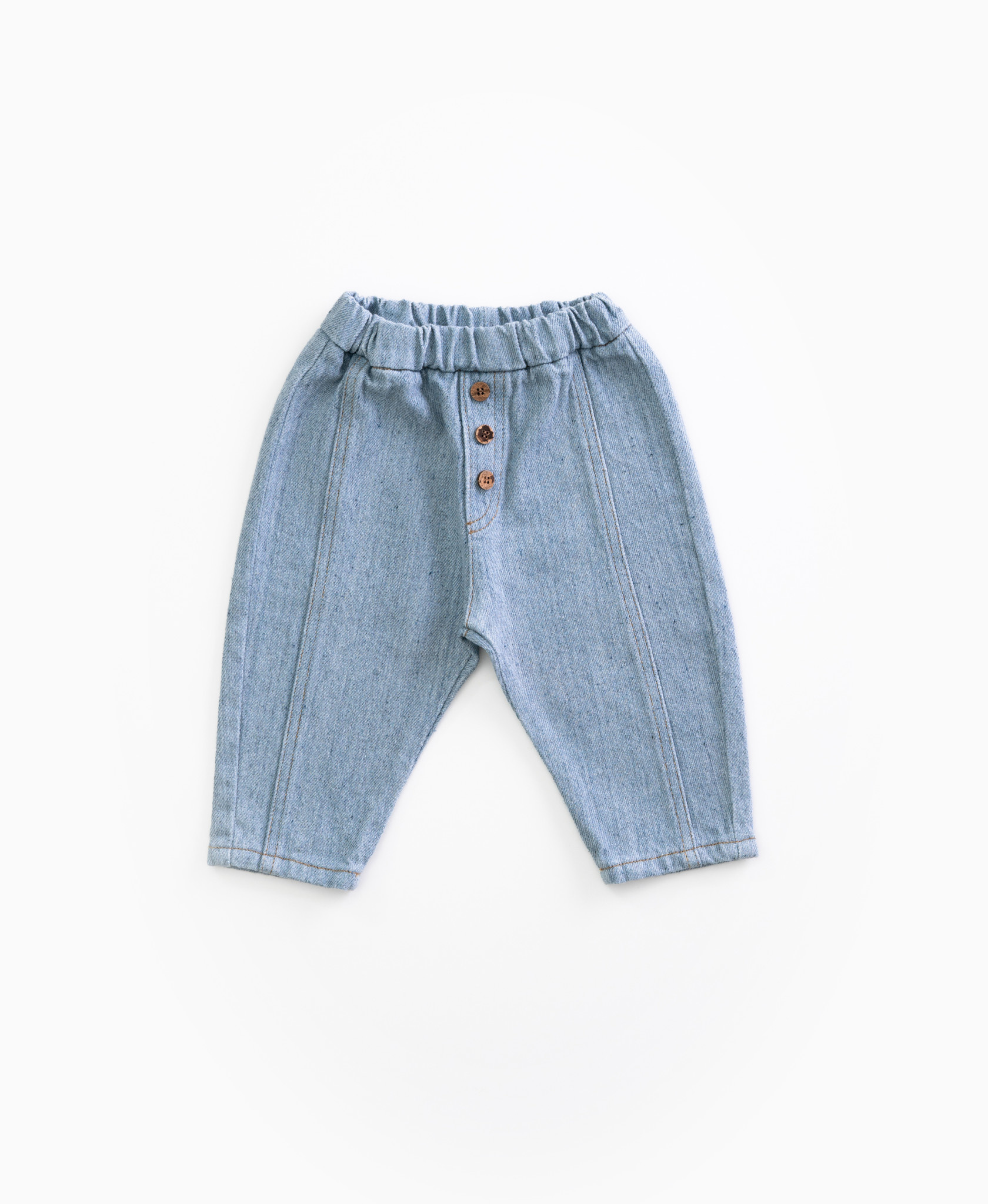 Recycled denim trousers-1