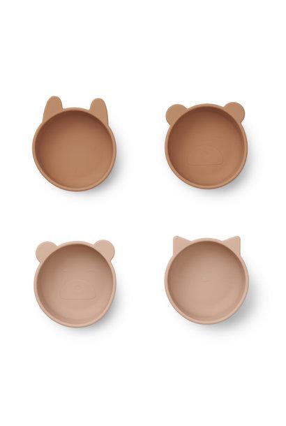Iggy silicone bowls tuscany rose mix - 4 pack