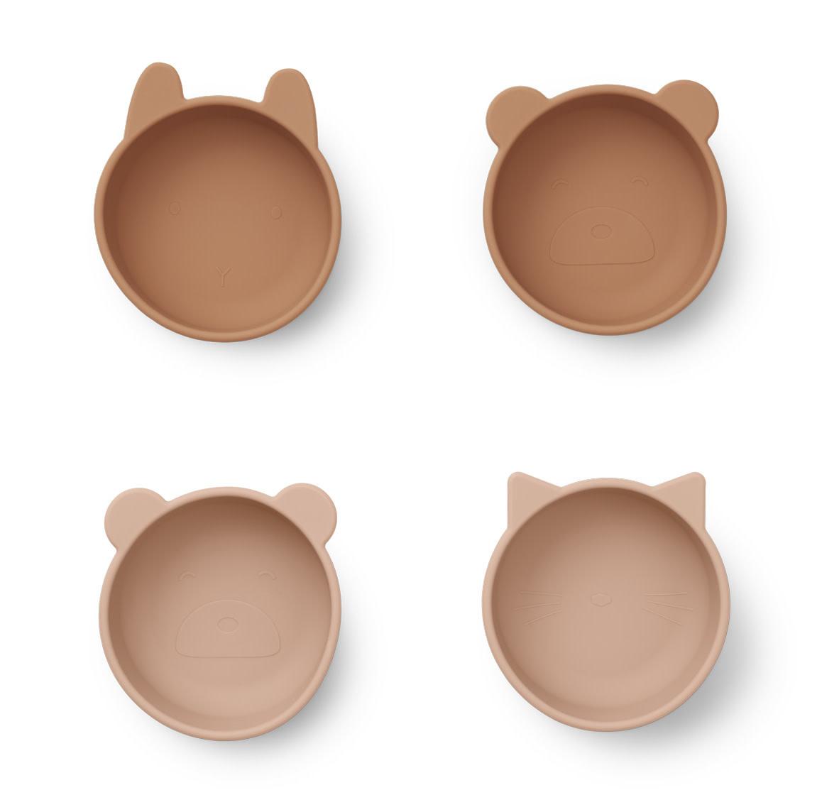 Iggy silicone bowls tuscany rose mix - 4 pack-1